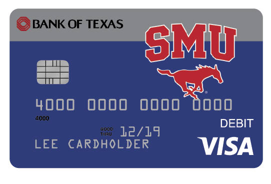 your bank of texas visa debit card with emv chip activated technology is fast safe and accepted worldwide it pulls money directly from your checking - Visa Debit Card